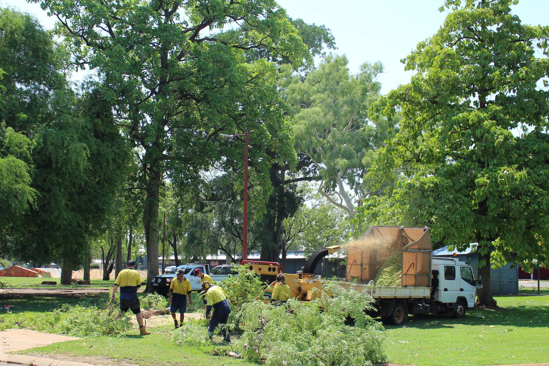 Shire staff begin clean-up of fallen trees and debris in response to