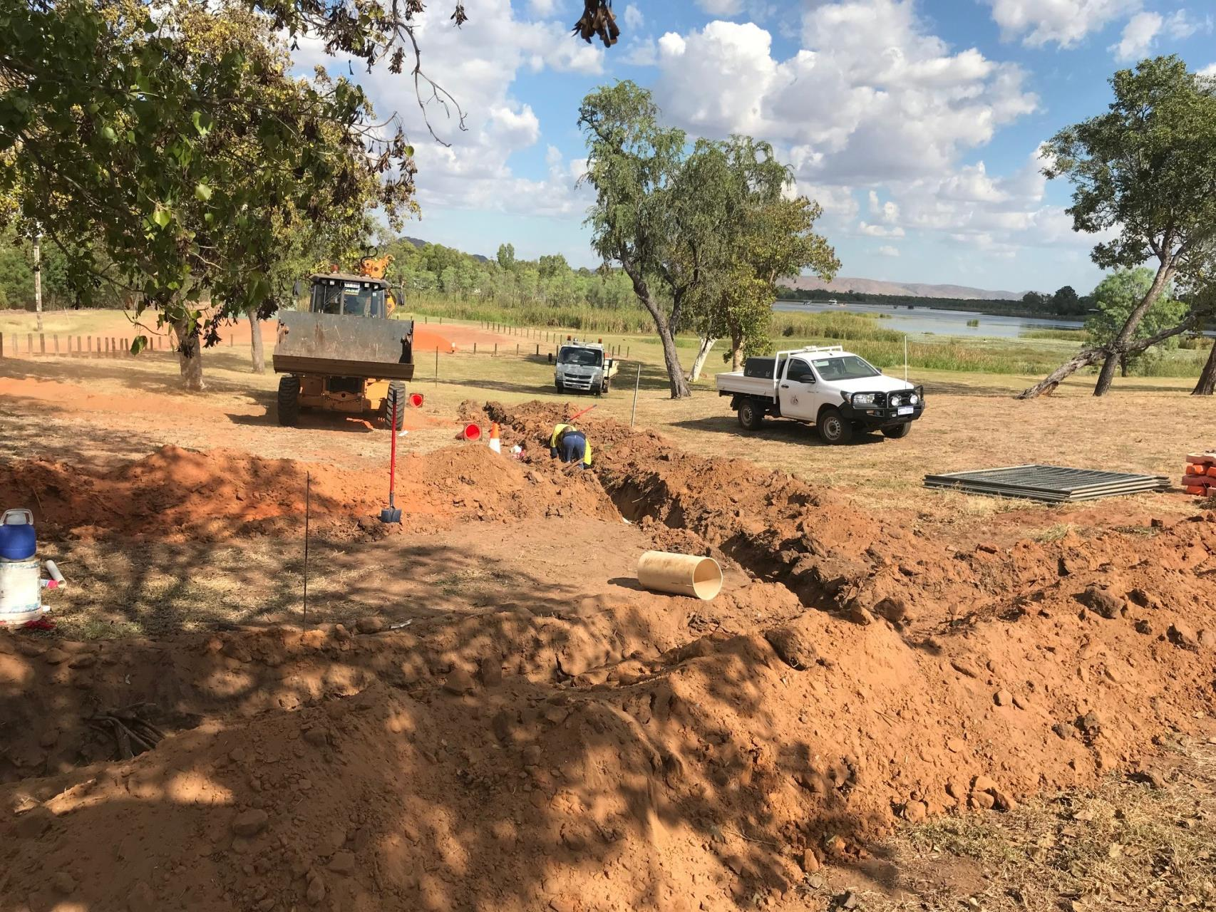 Reticulation works at Lilly Creek Lagoon Foreshore