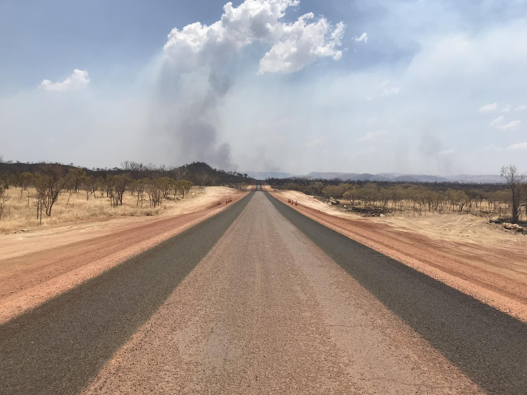 Lake Argyle Road widening works continue