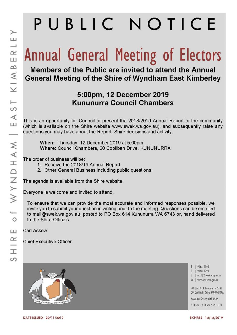 Annual General Meeting of Electors