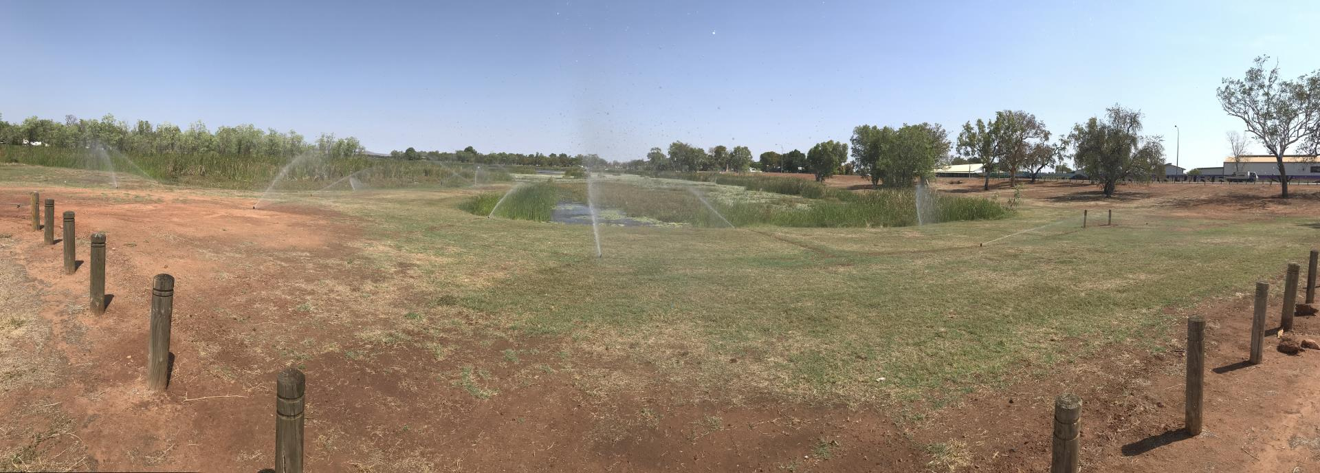 Reticulation installed at Lilly Creek Lagoon